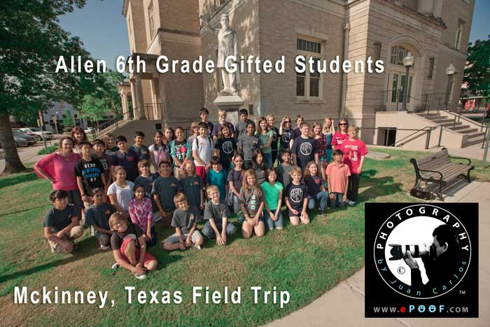 Allen 6th Grade Gifted Students Field Trip to McKinney Texas by Juan Carlos of Entertainment Photos and ePoof