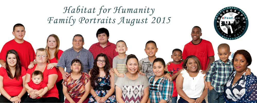 Habitat for Humanity Family Portratis August 14 2015 by Juan Carlos of Entertainment Photos and epoof