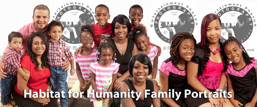 Habitat for Humanity Family Portraits by Juan Carlos of Entertainment Photos at epoof