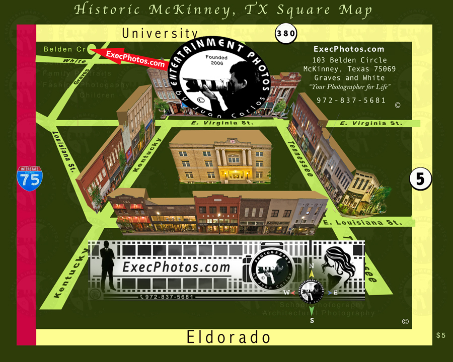 Map to ExecPhotos by juancarlos of Entertainment Photos for your headshots and portrait work needs